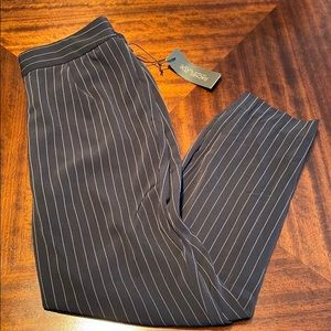 New woman's navy blue pinstriped Rachel Zoe pants.
